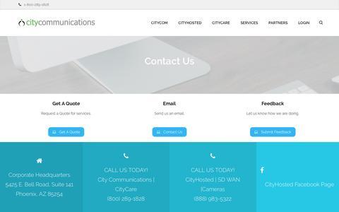 Screenshot of Contact Page citycommunications.com - Contact - City Communications - captured May 17, 2017