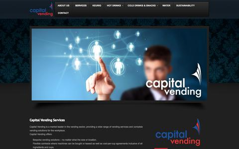 Screenshot of Services Page capitalvending.co.uk - Capital Vending Services | Vending services for Business & Leisure | Capital Vending - captured Sept. 27, 2014