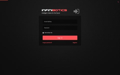 Screenshot of Login Page infinibotics.com - Infinibotics - Login - captured Jan. 8, 2016