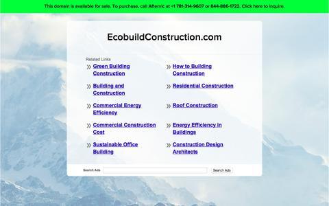 Screenshot of Home Page ecobuildconstruction.com - EcobuildConstruction.com - captured July 14, 2017