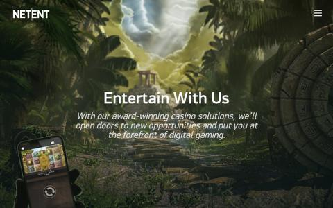 Screenshot of Services Page netent.com - Entertain | NetEnt | Better Gaming - captured June 6, 2019