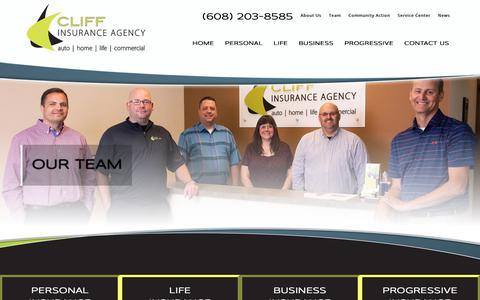 Screenshot of Team Page cliffinsurance.com - Insurance Agents | Cliff Insurance Agency - captured Dec. 15, 2018