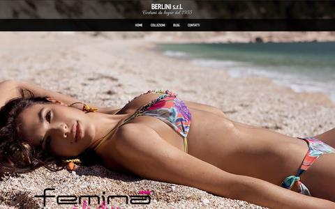 Screenshot of Home Page unimarbeachwear.it - Costumi da bagno 2014, moda mare made in italy, costumi da mare e beachwear - captured Oct. 4, 2014