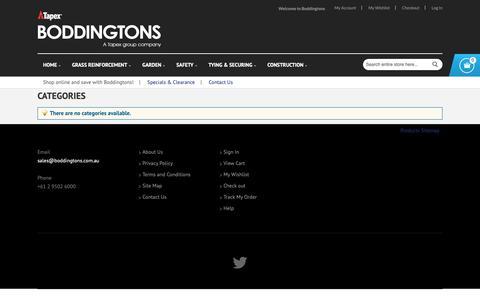 Screenshot of Site Map Page boddingtons.com.au - Site Map | Boddingtons Australia - captured Oct. 6, 2018