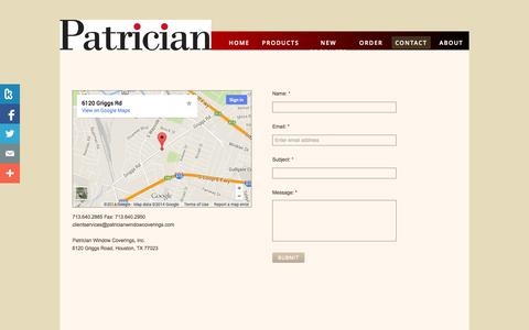 Screenshot of Privacy Page Contact Page woodlandblinds.com - Contact Us - captured Oct. 25, 2014