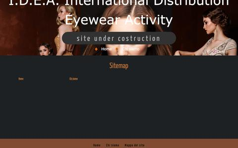 Screenshot of Site Map Page idea-eyes.it - Sitemap - captured Oct. 1, 2018