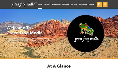 Screenshot of Home Page greenfrogmedia.com - Green Frog Media | Products for the Great Outdoors - captured July 24, 2018