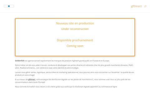 Screenshot of Home Page goldenfish.fr - Goldenfish.fr - Conseil et Services en développement des ventes - captured Nov. 5, 2018