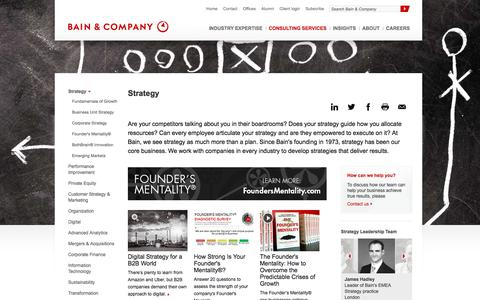 Screenshot of Services Page bain.com - Strategy consulting - Bain & Company - captured May 10, 2017