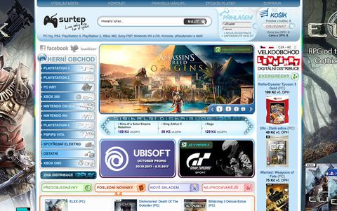 Screenshot of Home Page surtep.cz - Surtep.CZ - PC hry, Playstation 4, Xbox One, PlayStation 3, Nintendo, PS4, Xbox 360 - captured Oct. 25, 2017