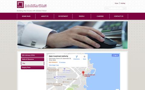 Screenshot of Maps & Directions Page qia.qa captured June 26, 2017