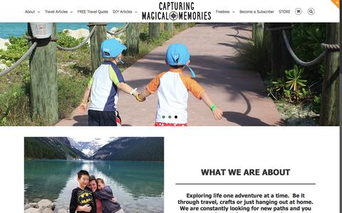 Screenshot of Home Page capturingmagicalmemories.com - Capturing Magical Memories – Launched in April 2011, Capturing Magical Memories® is a resource for creating and capturing family memories through activities, travel, and photography. - captured Oct. 21, 2017