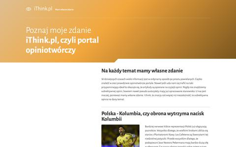 Screenshot of Home Page ithink.pl - iThink.pl, czyli portal opiniotwórczy - captured Oct. 13, 2018