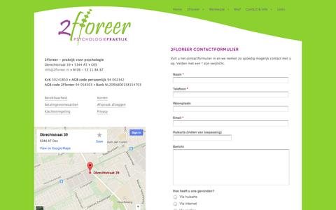Screenshot of Privacy Page 2floreer.nl - 2Floreer - Contact & Voorwaarden - captured Oct. 27, 2014