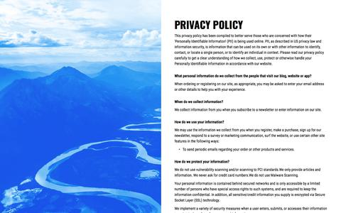 Screenshot of Privacy Page riverlabs.software - Privacy Policy - captured Sept. 21, 2018