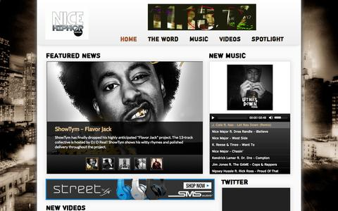 Screenshot of Home Page Privacy Page Terms Page nicehiphop.com - NiceHipHop.com | You make it, we display it to the world!! - captured Oct. 12, 2014