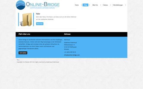 Screenshot of Blog online-bridge.com - Arabische Länder - captured Oct. 7, 2014