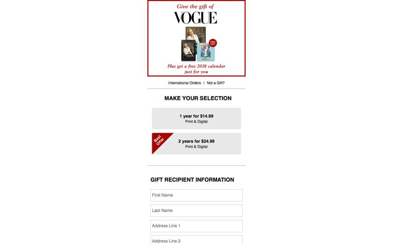 >Gift Subscription | Vogue