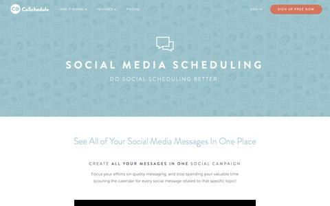 Social Media Scheduling - CoSchedule