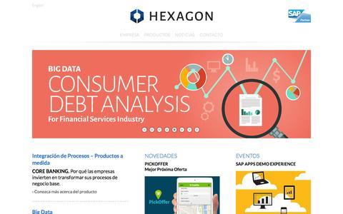 Screenshot of hexagonconsulting.net - Hexagon Consulting - captured Jan. 29, 2016