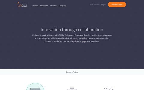 Screenshot of Signup Page unblu.com - Trusted Partners for Successful Projects - unblu - captured Sept. 23, 2018