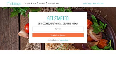 Diettogo® Pricing - Build Your Diet Meal Plan - 4 Menus to Choose From