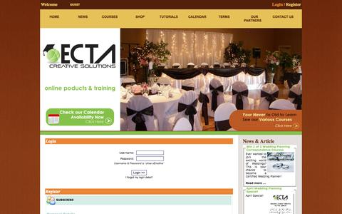 Screenshot of Login Page ectaint.com - ECTAINT TRAINING - captured Oct. 2, 2014
