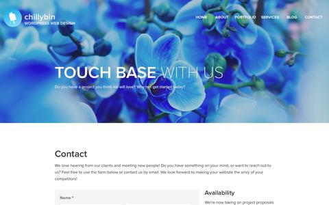 Screenshot of Contact Page chillybin.com.sg - Web Design & Development Agency Singapore   ChillyBin - captured Jan. 27, 2016