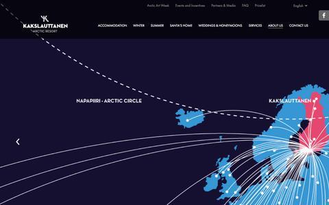 Screenshot of Maps & Directions Page kakslauttanen.fi - Kakslauttanen on the map - captured Sept. 24, 2014