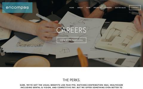 Screenshot of Jobs Page encompas.com - Careers — encompas - captured Sept. 30, 2018