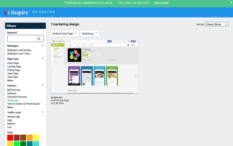 Screenshot of Trial Page crayon.co - Marketing Android App Pages | Website Inspiration and Examples | Crayon - captured Nov. 26, 2019