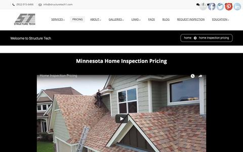 Screenshot of Pricing Page structuretech1.com - Home Inspection Pricing - Structure Tech Home Inspections - captured Oct. 1, 2018