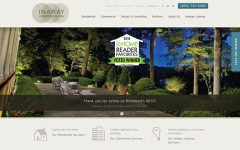 Screenshot of Home Page inaray.com - Outdoor Lighting in Richmond, VA | INARAY Outdoor Lighting - captured Jan. 21, 2016