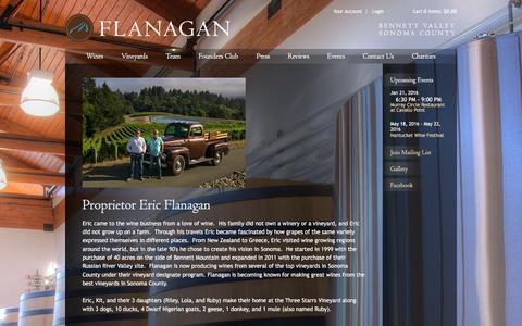 Screenshot of Team Page flanaganwines.com - Flanagan Wines - Winery - captured Jan. 8, 2016