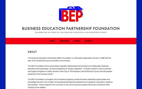 Screenshot of About Page wordpress.com - About – Business Education Partnership Foundation - captured Nov. 23, 2016