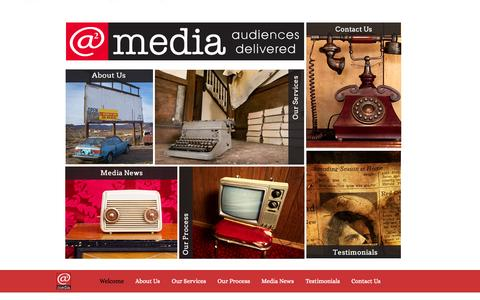 Screenshot of Home Page asquaredmedia.net - Advertising Agency San Diego - captured Sept. 30, 2014