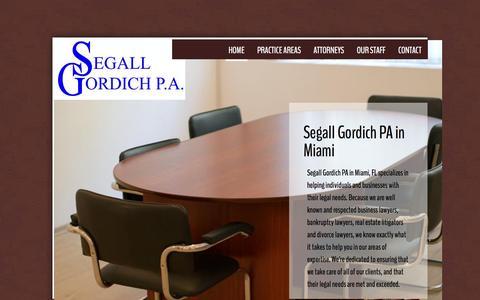 Screenshot of Home Page segallgordich.com - Segall Gordich Pa in Miami, Fl - captured Feb. 4, 2016