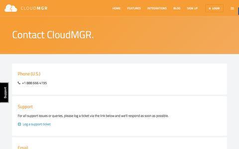CloudMGR Contact Us