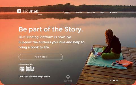 Screenshot of Home Page ficshelf.com - FicShelf - captured Aug. 3, 2015