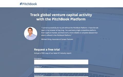 Screenshot of Landing Page pitchbook.com - Venture Capital Data - PitchBook - captured Oct. 22, 2016