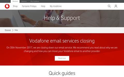 Help & Support - Vodafone NZ