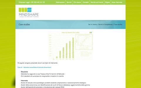 Screenshot of Case Studies Page mindshape.it - Case studies - Mindshape: Product and Marketing Management - captured Oct. 27, 2014