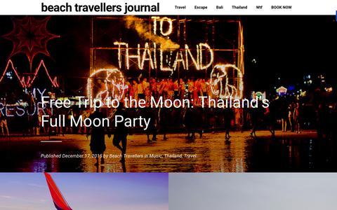 Screenshot of Blog beachtravellers.com - Beach Travellers Journal - - captured Feb. 7, 2016