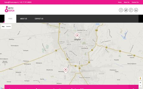 Screenshot of Home Page flatsinjaipur.in - Find Flats in Jaipur - FlatsinJaipur.in | Kedar@FlatsInJaipur.in / +91 77 371 60000 - captured Jan. 8, 2016