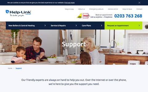 Screenshot of Support Page help-link.co.uk - Welcome to Help-Link   Help-Link UK - captured Jan. 19, 2016