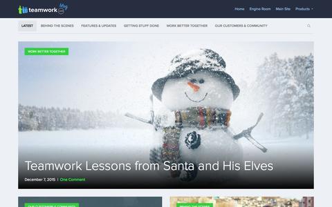 Screenshot of Blog teamwork.com - Teamwork.com Blog  Thoughts from the team behind Teamwork.com - captured Dec. 8, 2015
