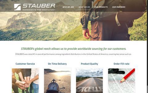 Screenshot of Services Page stauberusa.com - Distribution | StauberUSA - captured Sept. 30, 2017