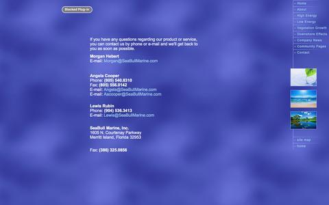 Screenshot of Contact Page seabullmarine.com - SeaBull Marine, Inc. - Contact Us - captured Nov. 19, 2016