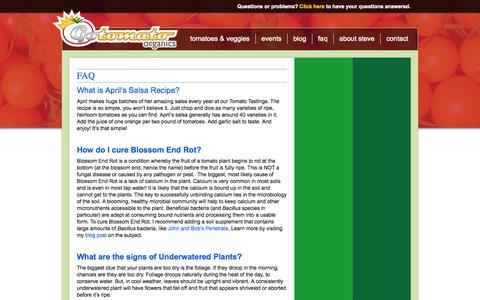 Screenshot of FAQ Page gotomato.us.com - Gotomato.us.com | Faq - captured Sept. 30, 2014