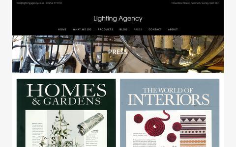 Screenshot of Press Page lightingagency.co.uk - Press - Lighting Agency - captured Dec. 9, 2015
